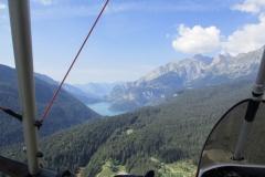 Volando verso il lago Molveno