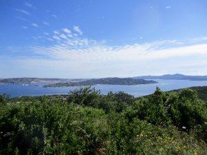 Blick auf la Maddalena und la Caprera