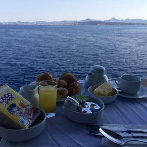 Costa Kreuzfahrt im Mittelmeer - Frühstueck mit Aussicht