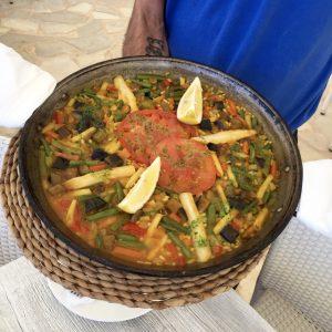 Menorca Mittagessen: Paella