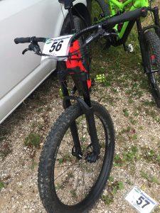 la mia bici con il numero 56