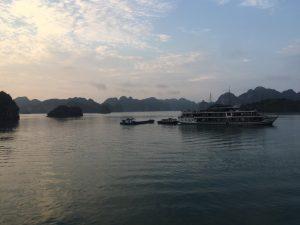 Ruheplätze während der Halong Bay Kreuzfahrt