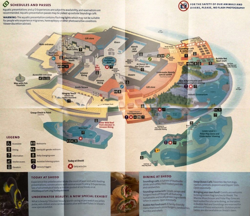 Map of Shedd Aquarium in Chicago