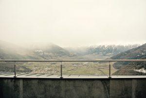 Blick von der Terrasse der Sesvenna Suite - Belvita im Vinschgau