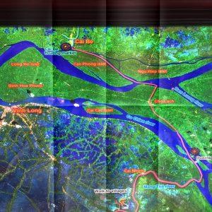 Mekong Kreuzfahrt - Übersichtsplan