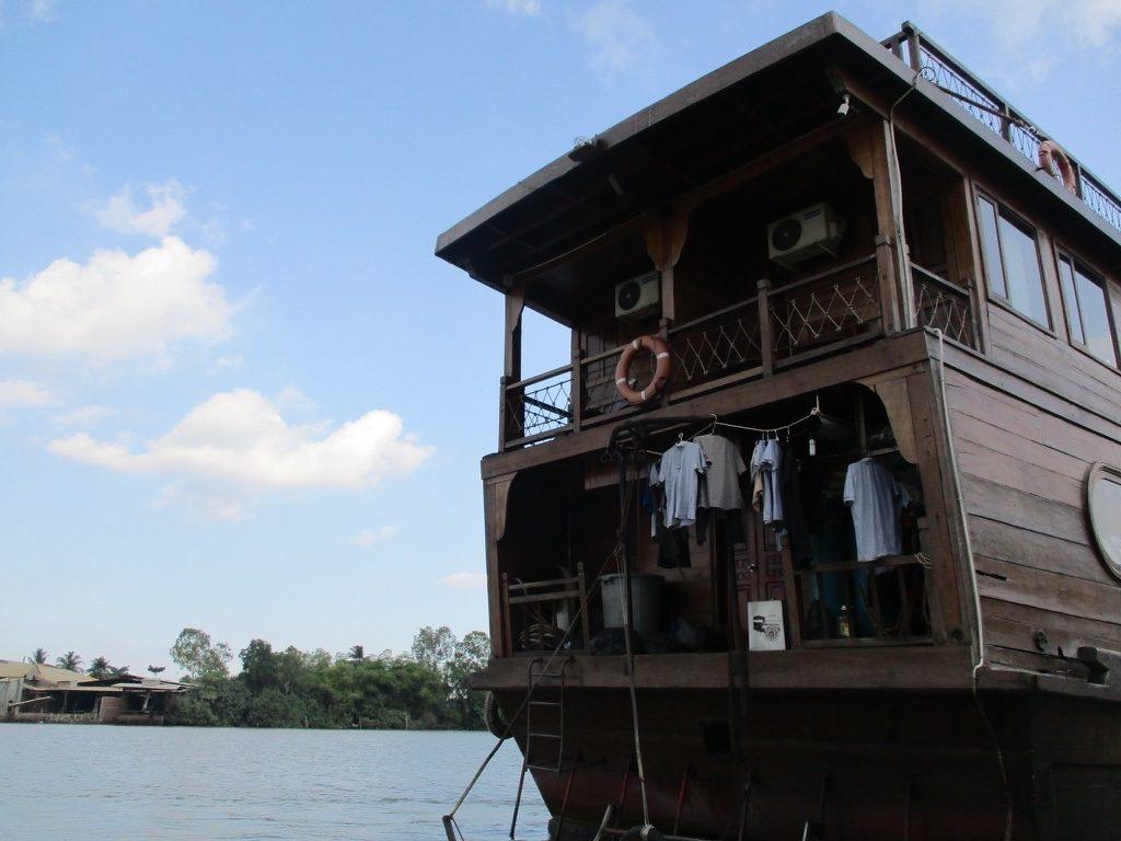 Auf Mekong Kreuzfahrt