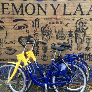 Fahrräder sind überall in Amsterdam