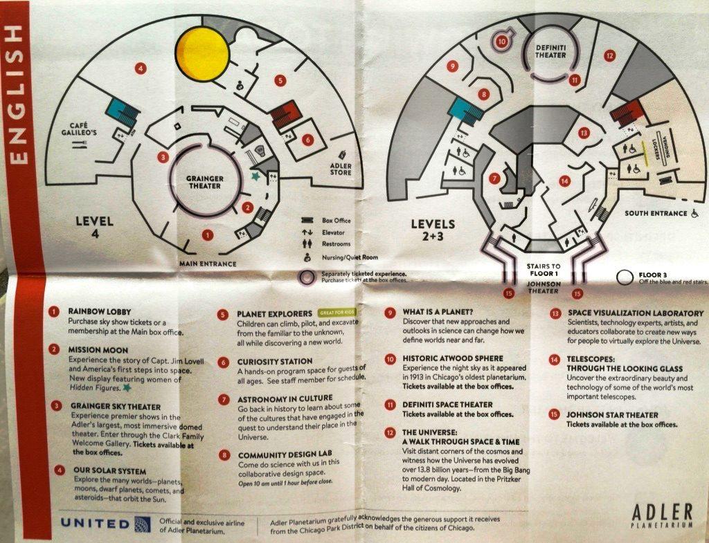 Plan des Adler Planetariums in Chicago