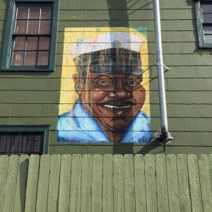 Fats Domino, street art, Nola