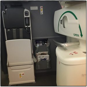 Boeing 787 emergency exit seat