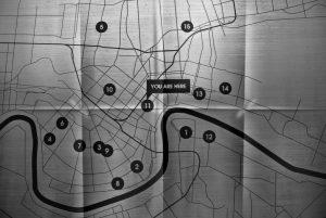 Wo sind die EvacySpot in New Orleans, ein Plan der Stadt