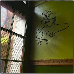 Gruene Wand im Green Goddess Restaurant