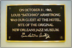 Schild, dass Louis Armstrong hier war