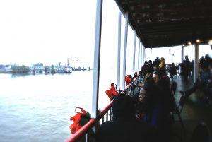Blick von der Natchez auf New Orleans