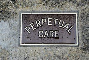 Schild mit Perpetual Care