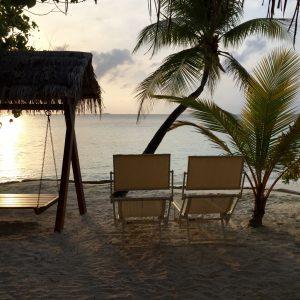 Maledivenfeeling vor dem Bungalow