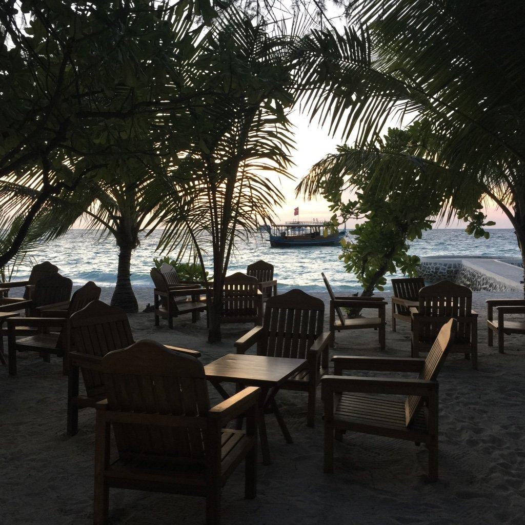 Sonnenuntergang im indischen Ozean