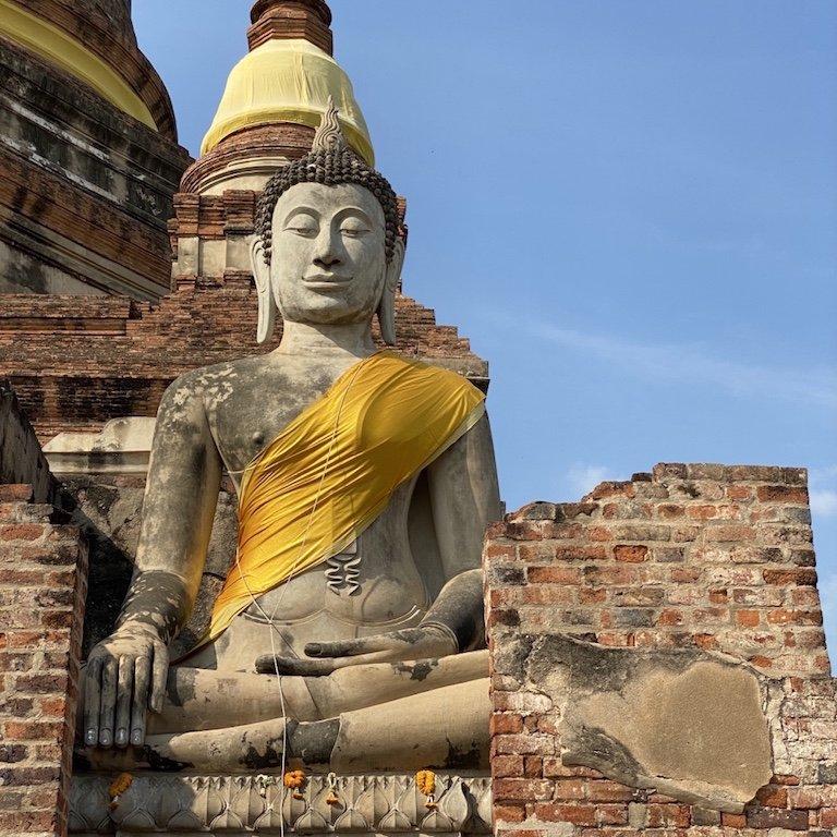 Ayutthaya beste Tempel, Südostasien Kreuzfahrt Besuch des Wat Yai Chai Mongkhon