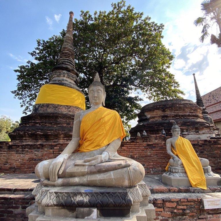 Ayutthaya Tempel, Ausflug Bangkok, Südostasien Kreuzfahrt Besuch des Wat Yai Chai Mongkhon