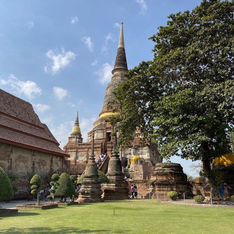 Ayutthaya in einem Tag, Ausflug Bangkok, Südostasien Kreuzfahrt im Wat Yai Chai Mongkhon