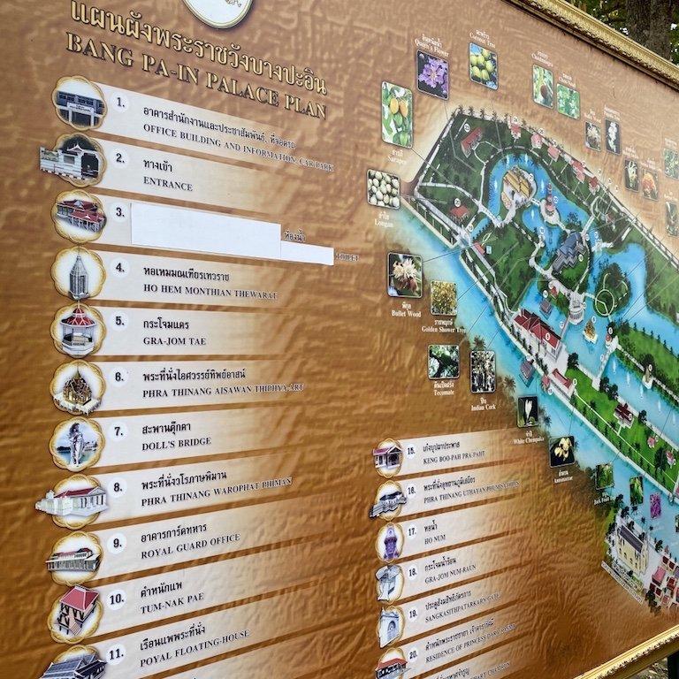 Bus Tour Bangkok, Kreuzfahrt Thailand, Bang Pa In, Sommerpalast, Übersicht