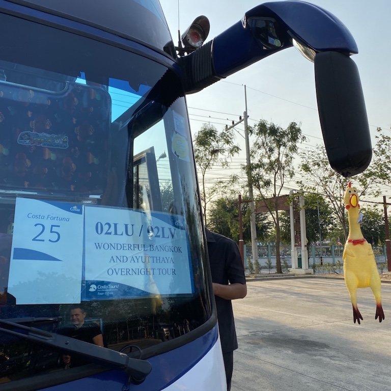 Ayutthaya in einem Tag, Tour Bangkok, Kreuzfahrt Thailand, Bang Pa In Parkplatz