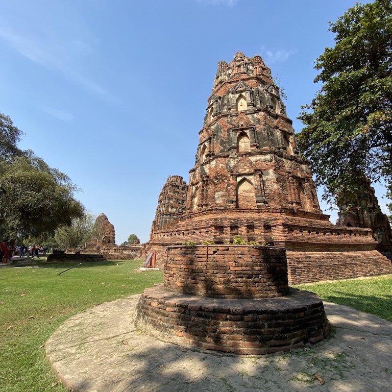 Ayutthaya, nähe Bangkok, Besuch Wat Mahathat, im Tempel