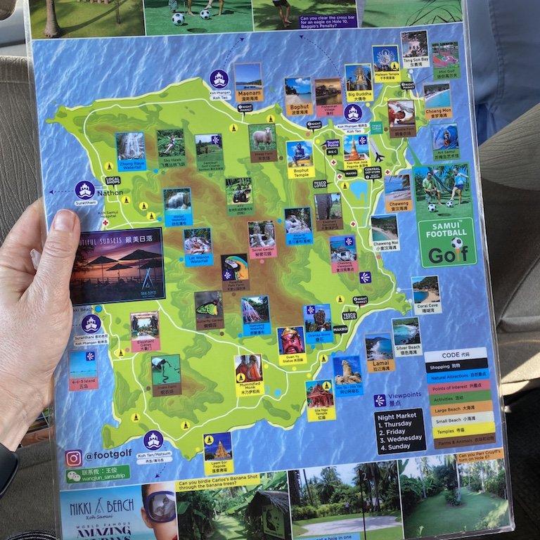 Koh Samui erleben - Plan Insel