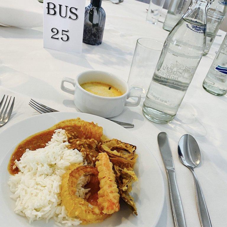 Essen, im Riverside Hotel, Bangkok, Costa Kreuzfahrten Ausflug