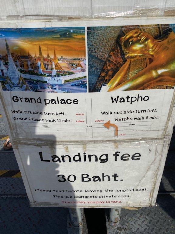 Bangkok Bootsfahrt Steg Preise