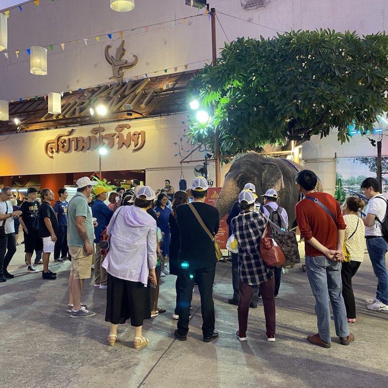 Highlights von Bangkok erleben, Niam Siramit Elefant Attraktion