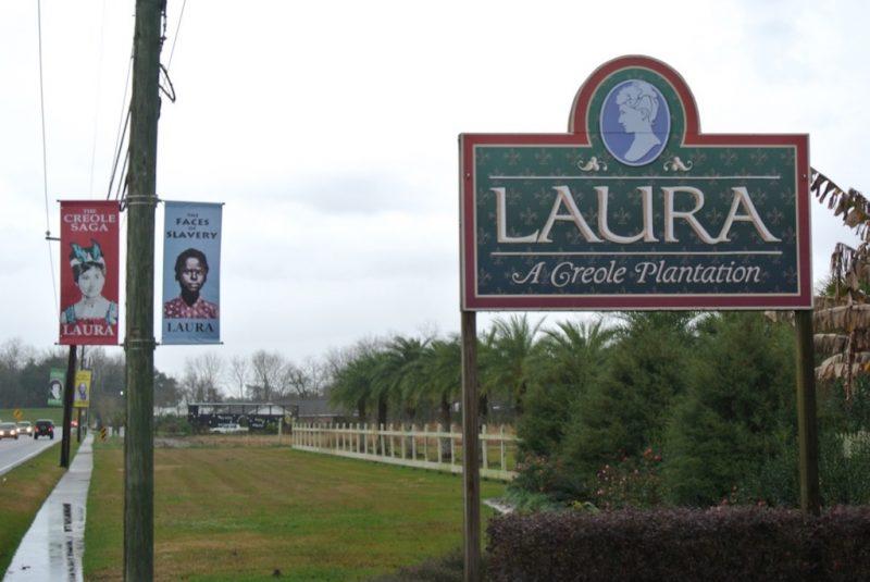 Anfahrt zur Laura Plantation in Louisiana
