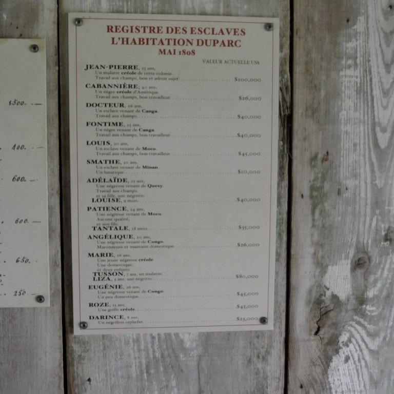 Besuch der Laura Plantation Louisiana - der Wert eines Sklaven