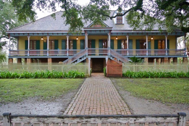 Roadtrip durch Louisiana, Fassade und Sicht von Laura Plantation