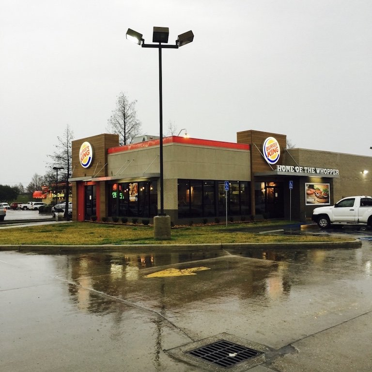 Burger King in Breaux Brigde, Louisiana