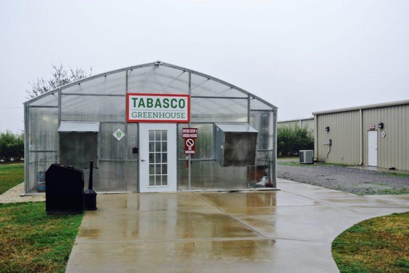Sicht von aussen auf das Gewächshaus von Tabasco