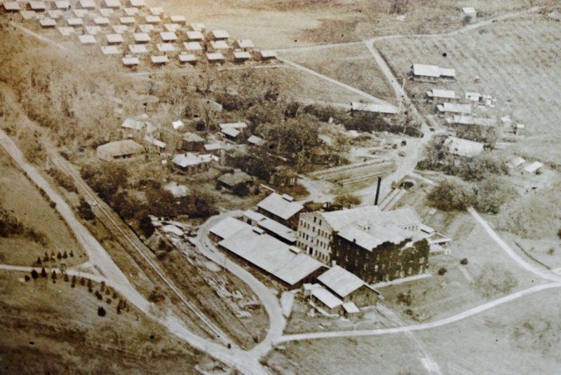Alte Luftaufnahme auf Tabasco auf Avery Island