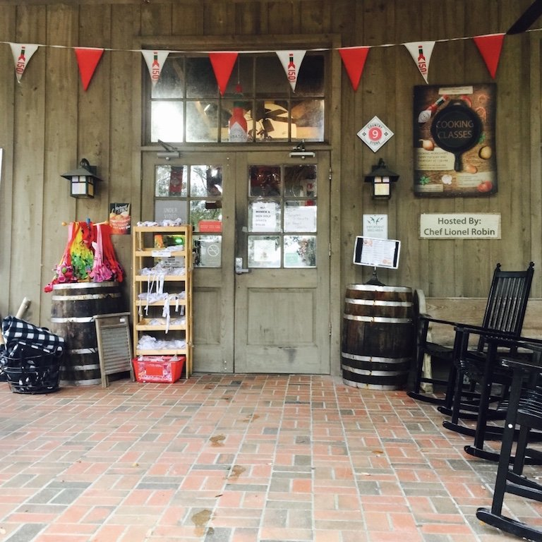 Eingang zum Store auf Avery Island