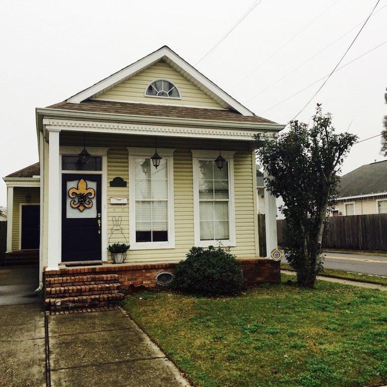 Roadtrip durch Louisiana, typisches Haus einer Familie in der Stadt Gretna
