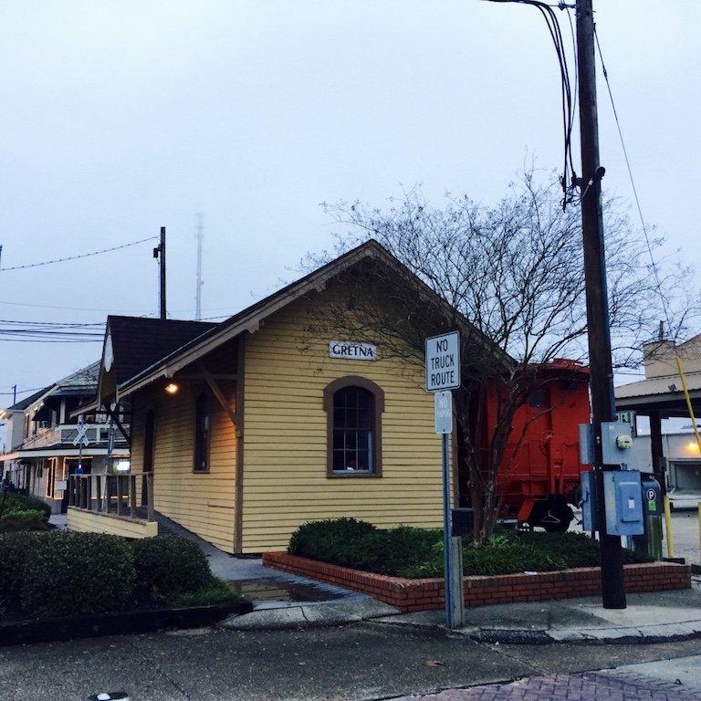 Roadtrip durch Louisiana, typisches Haus in der Stadt Gretna