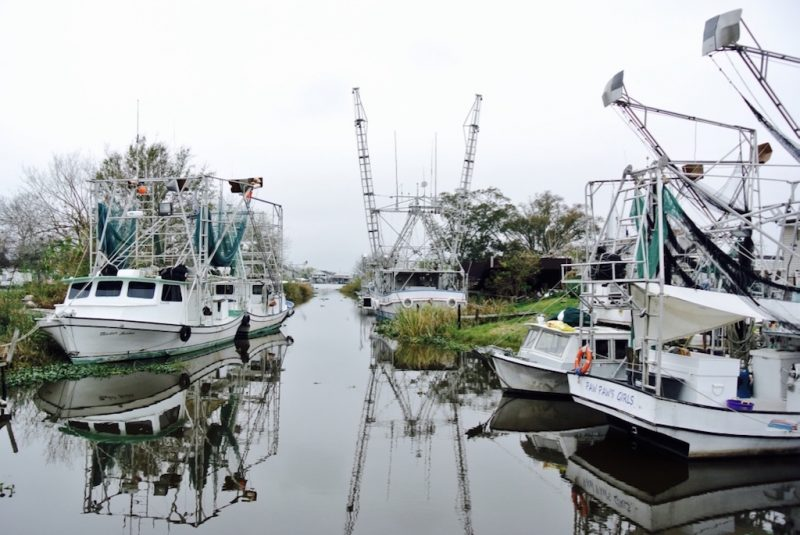 Boote im Hafen bei Lafitte in Louisiana