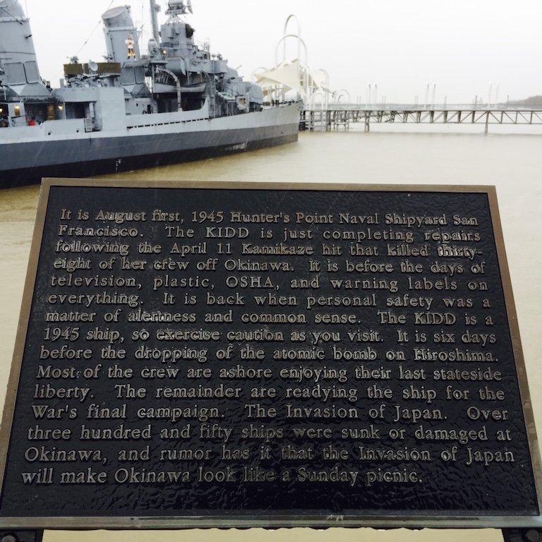 Louisiana, Baton Rouge, USS Kidd auf dem Mississippi