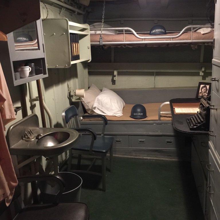 Kabine auf dem Schiff USS Kidd in Baton Rouge, LouisianaWc auf dem Schiff USS Kidd in Baton Rouge, Louisiana