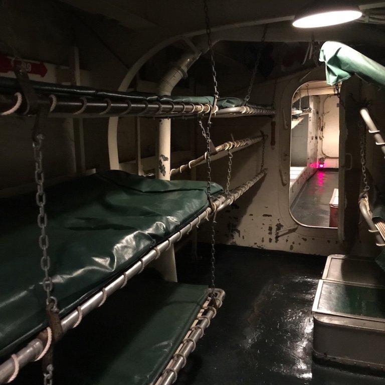 Schlafen auf dem Schiff USS Kidd in Baton Rouge, Louisiana