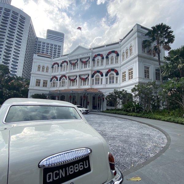 Raffles Hotel aussen - Fassade
