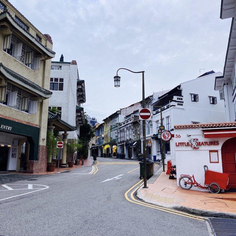 Ansicht der Club Street in Singapur