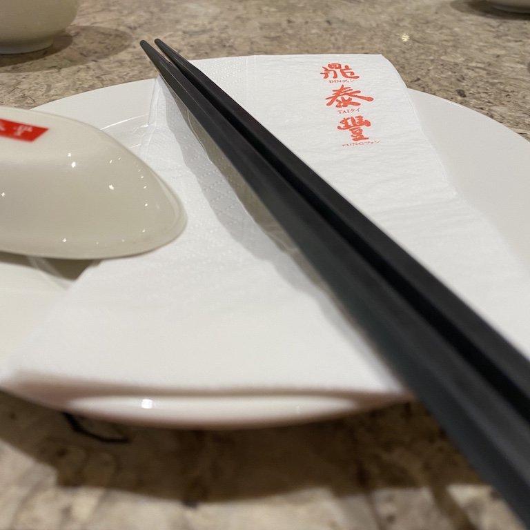 Din Thai Fung Restaurant Tisch mit Gedeck
