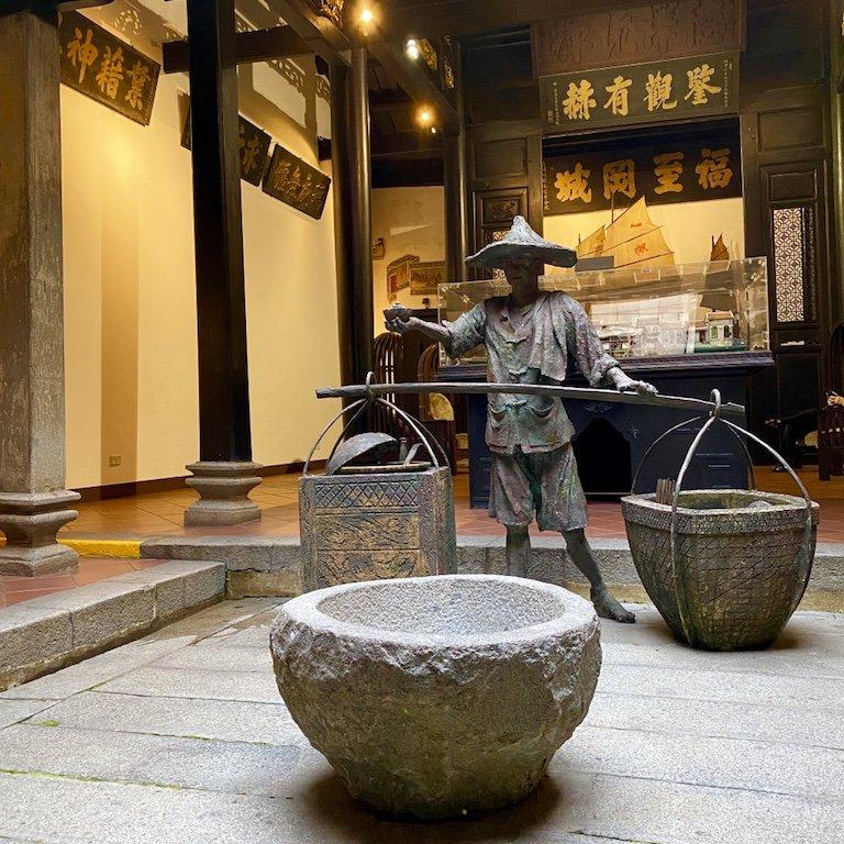 Blick in den ehemaligen Temple und heutigen Museum