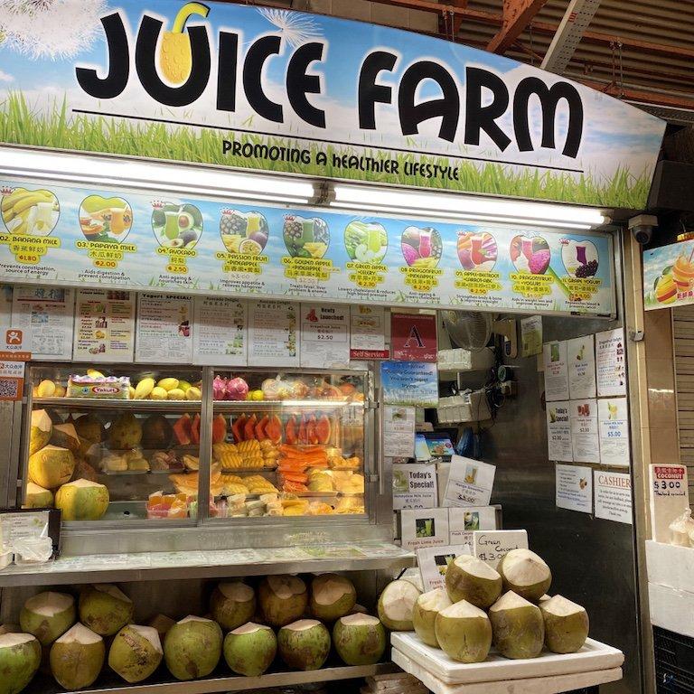 Essensstand für Säfte und Drinks aus frischem Obst