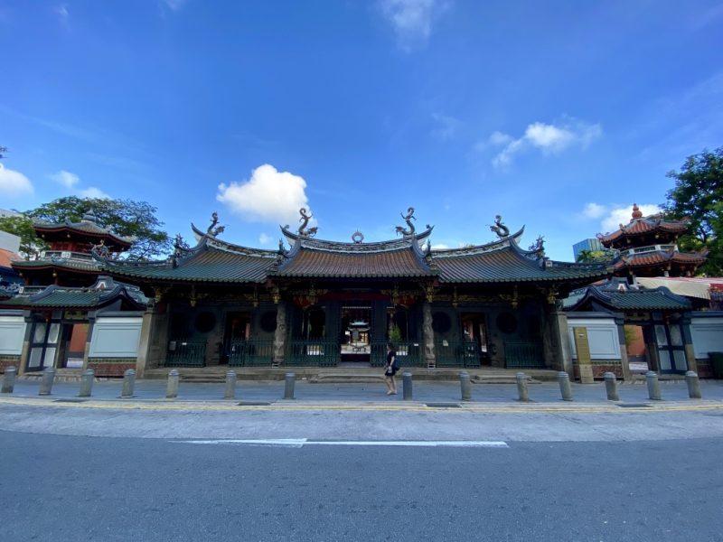 Fassade des Thian Hock Keng Tempel